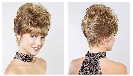Bold Brown Smooth Updo by Sin City Wigs