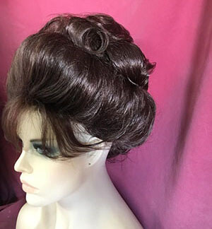 Bold Brown Smooth Updo-2