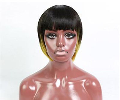 Short and Sporty Straight Wig with Bangs