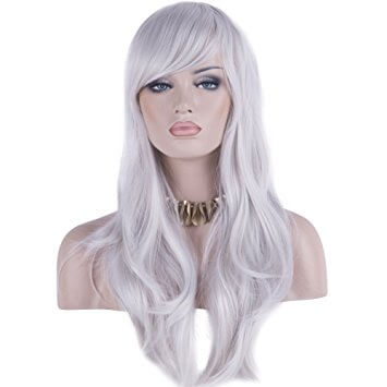 32 Inch Curly Wave Wig for White Women