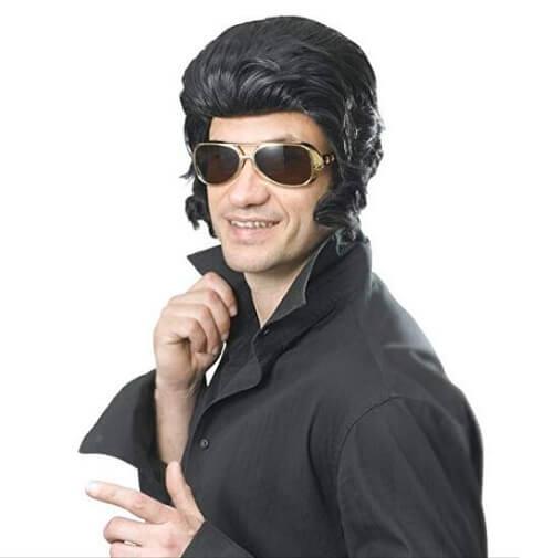 Bristol Novelty Black Elvis Wig
