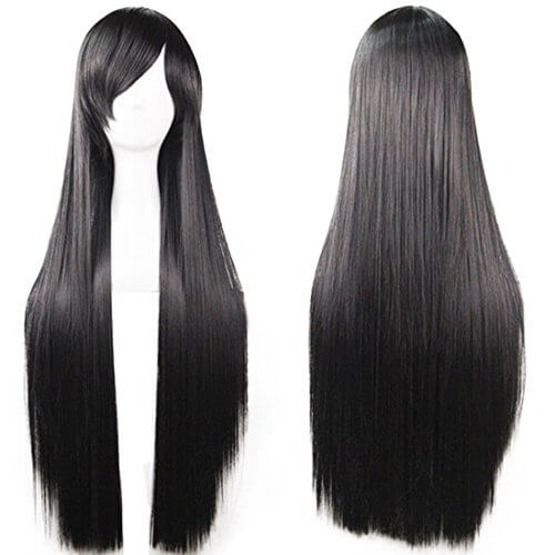 Long Straight Anime Costume Wig for White Women