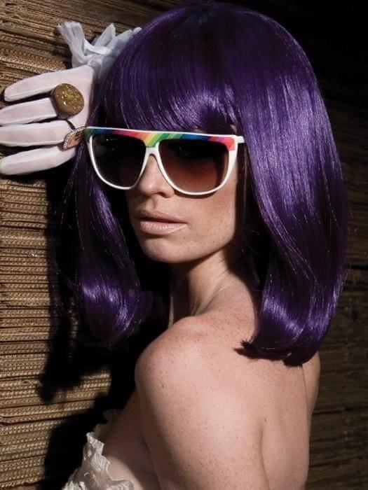 GoGo Girl Synthetic Purple Wig