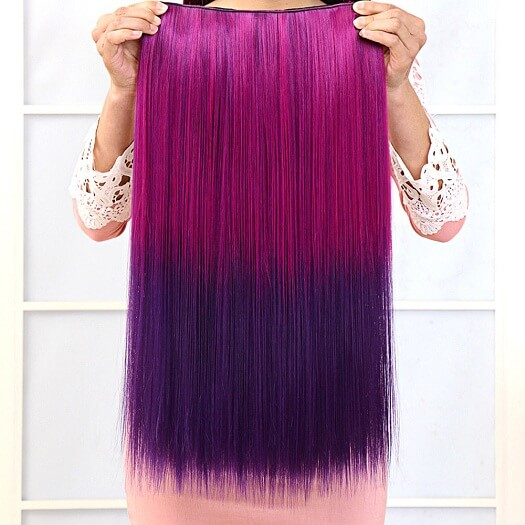 Lady 2 Colors Purple Hairpiece