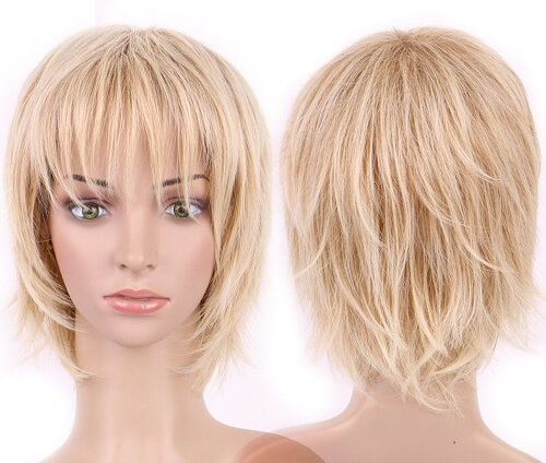 Ombre Curly Short Mommy Wig