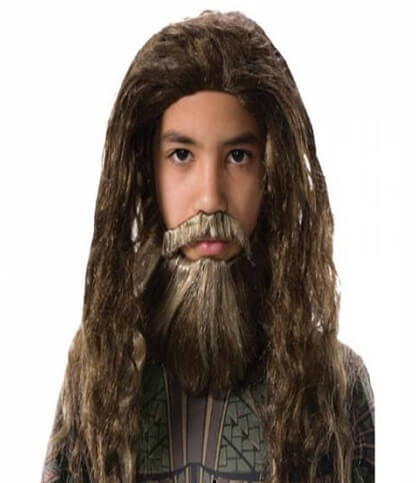 Aquaman Beard and Wig Set for Kids