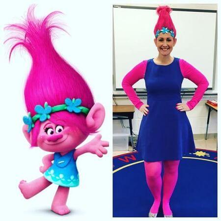 Poppy pink wig