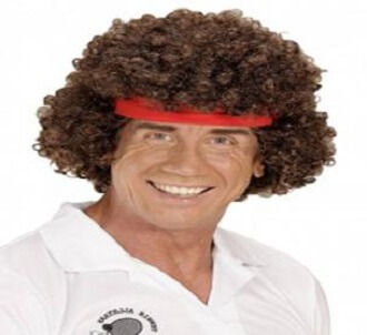 The 80s Tennis Player Wig with Headband