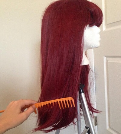 sleeping wig is to brush all the tangles