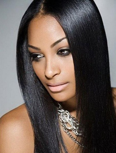Long smooth lustrous indian wig