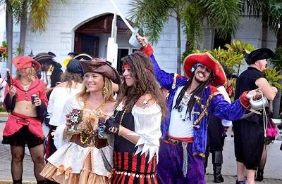 Pirates Week Festival wig