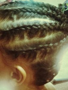 Braid the rest of the hair