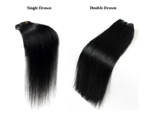 Single Drawn vs Double Drawn Hair Extension