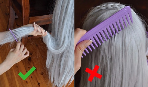Combing your wig